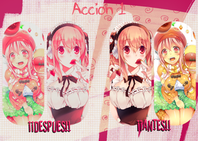 Accion 1 --- Strawberry by FuwaFuwaS