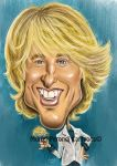 Owen WIlson's caricature by MURIELFREEMIND