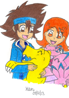 Taiora With Digimon by Nicktoons4ever