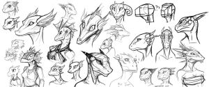 Argonian Face Practice by wolfbrandt