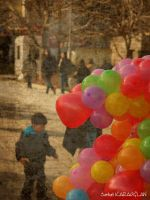Balloons to kids by ganara