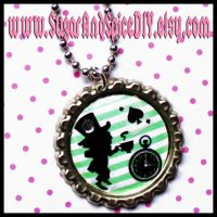Mad Hatter Tea Party Necklace by wickedland