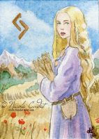 Goddess Sif ACEO by NicoleCadet