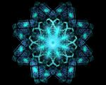 Teal Star Fractal Stock by KirstenStar