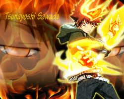 -Reborn- Tsuna Wallpaper by xXxCheekyCandyxXx