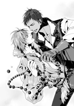 Aokise Vampire and Hunter by mayolovesmaru