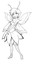 Lineart - Fairy by kangel