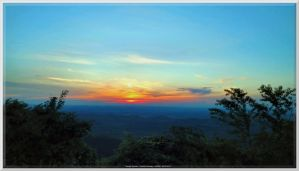 Maryville Sunset from Foothills Parkway by slowdog294