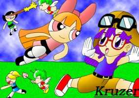 Arale,Gatchan 1+2 vs. The PPGs by Kruzer