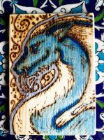 Woodburning ACEO for ElorenLeianor by BumbleBeeFairy