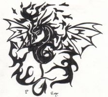 Dragon Tattoo 6 by Gothie666