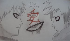 Gaara Love only yourself by yenthemaes