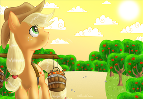 Morning walk by Amirah-the-cat