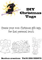 Christmas tag packaging by blackbunbun