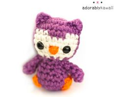 Purple Tiny Owl Plush by adorablykawaii