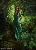 Lady of the Emerald Forest by RaymondThornton