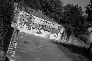 Park with graffiti by 86Botond