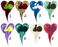 .:: Pony Heart Batch : 10-15 points : 2 left ::. by Uzu-Adoptables
