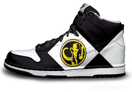 Black Power Ranger Nike Dunks by becauseimjay