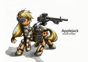 assault trooper applejack by george5408