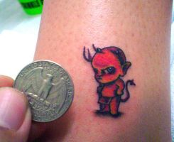 you could fit satan on a stamp by john2dope