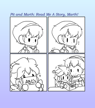 Pit And Marth: Read me a story, Marth! by CutieSweetCakes