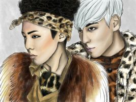 GD and TOP by LadyGiza