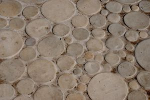 Mosaic of Circular Tiles by chamberstock