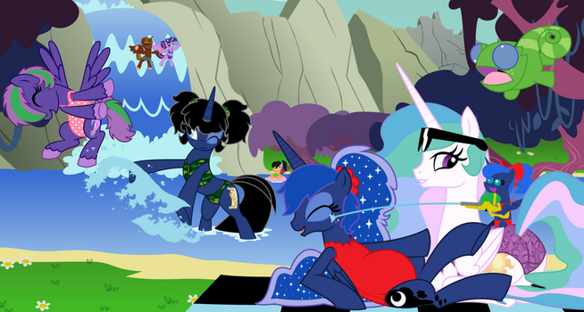 water mischief at the lagoon by EvilFrenzy