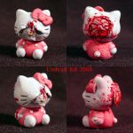 Blasted Hello Kitty 1 inch by Undead-Art