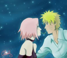 Narusaku Week: First date by Celious