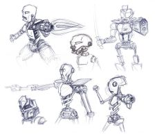 some different robots by greensandsguy