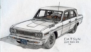 Datsun 2400 Super Six by BlackLeatheredOokami