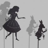 Alice and the white Rabbit by PaperTales