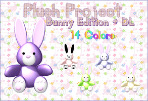 MMD - Plush Project - BUNNY + DL by RoseBeri