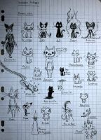 Scribble Scribble - Famous Cats by Toothless6reach