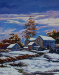 Winter at Home - oil by SamanthaLi