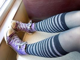 Chucks and Stripes by Tainted-Kayla