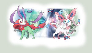 Fairy and Fake Dragon Type Eeveelutions by Tails19950