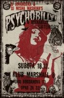 Poster for Psychobilly party by MissPsychoCandy