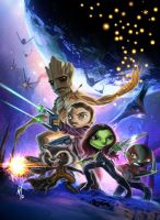 mini Guardians of the Galaxy by Corsariomarcio