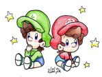 Baby Mario and Baby Luigi by BabyAbbieStar