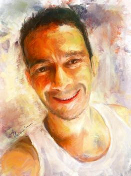 Impressionist Self Portrait by mchiarella