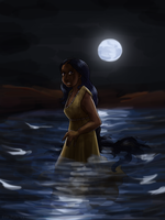 The Oasis in the Moonlight by ErinPtah