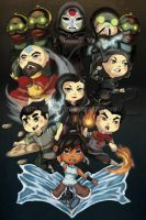 The Legend of Korra - Chibified by Lady-Zhylphia