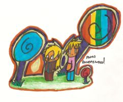 Me and Ravenswood in CandyLand by RoxasRavenswood