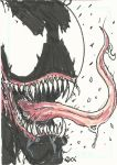 Venom sketch card by Graymalkin2112