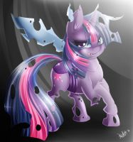 Kallisti IV - Twilight Sparkle as a changeling. by KnifeH