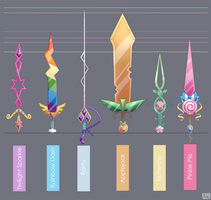 Mane Six Swords - Final by ChocoChaoFun