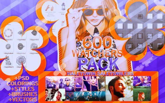 +600 Watchers Pack by SaleySwillers